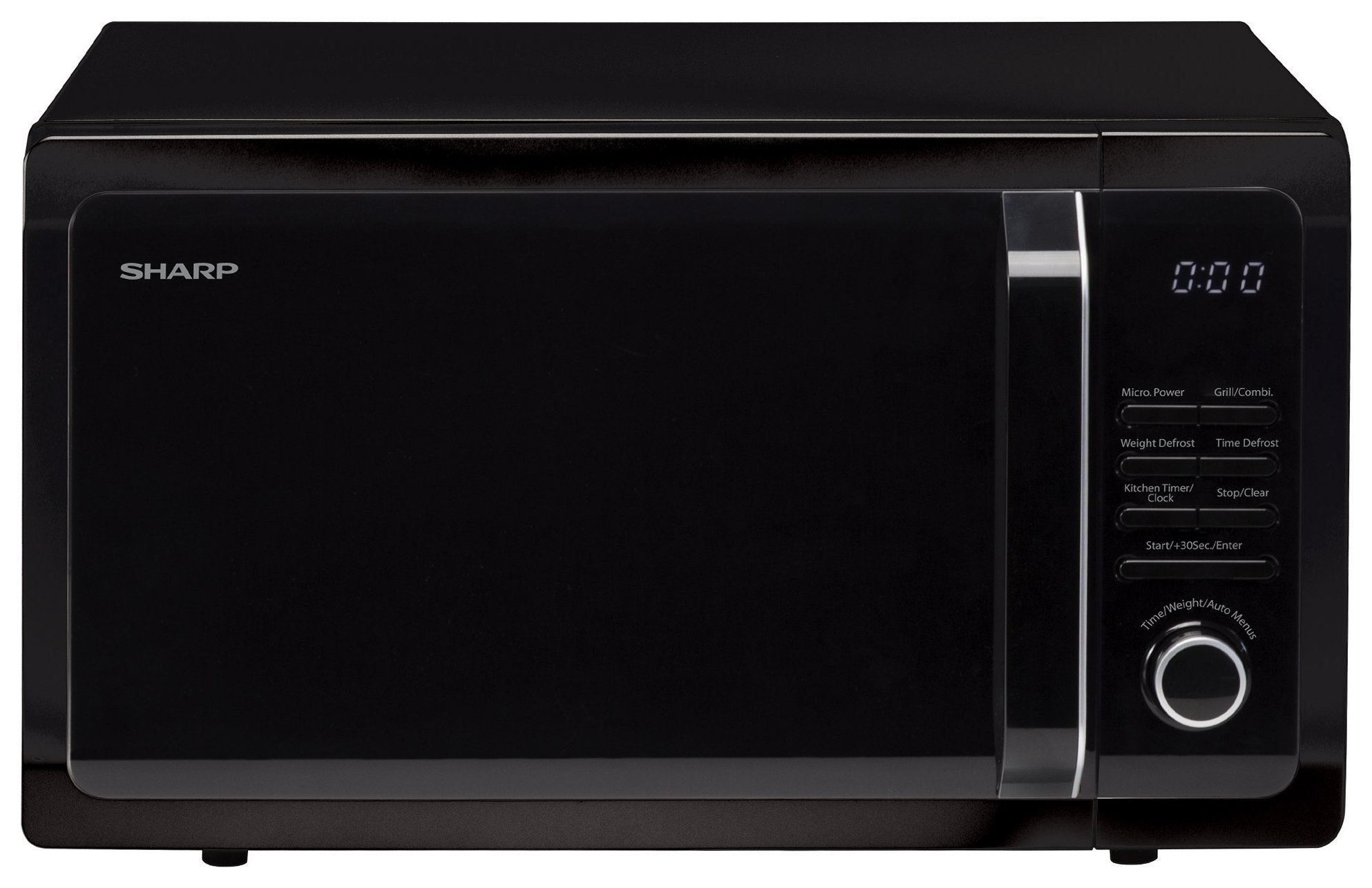 Sharp - R764KM 900W Microwave with Grill - Black