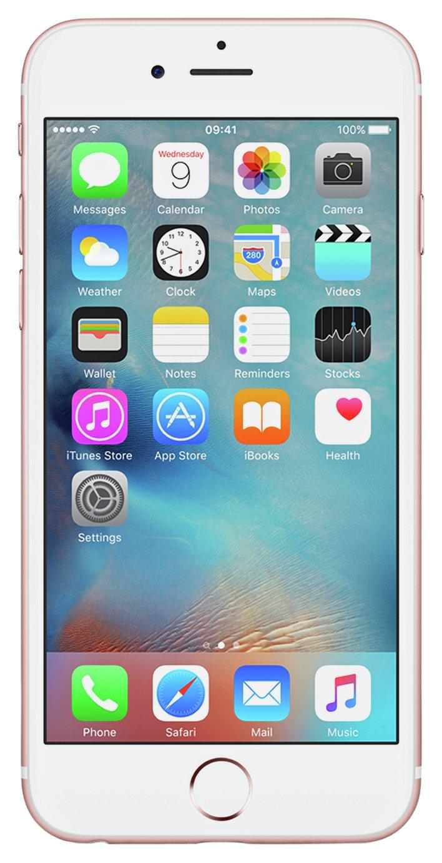 SIM Free iPhone 6s 128GB Mobile Phone - Rose Gold