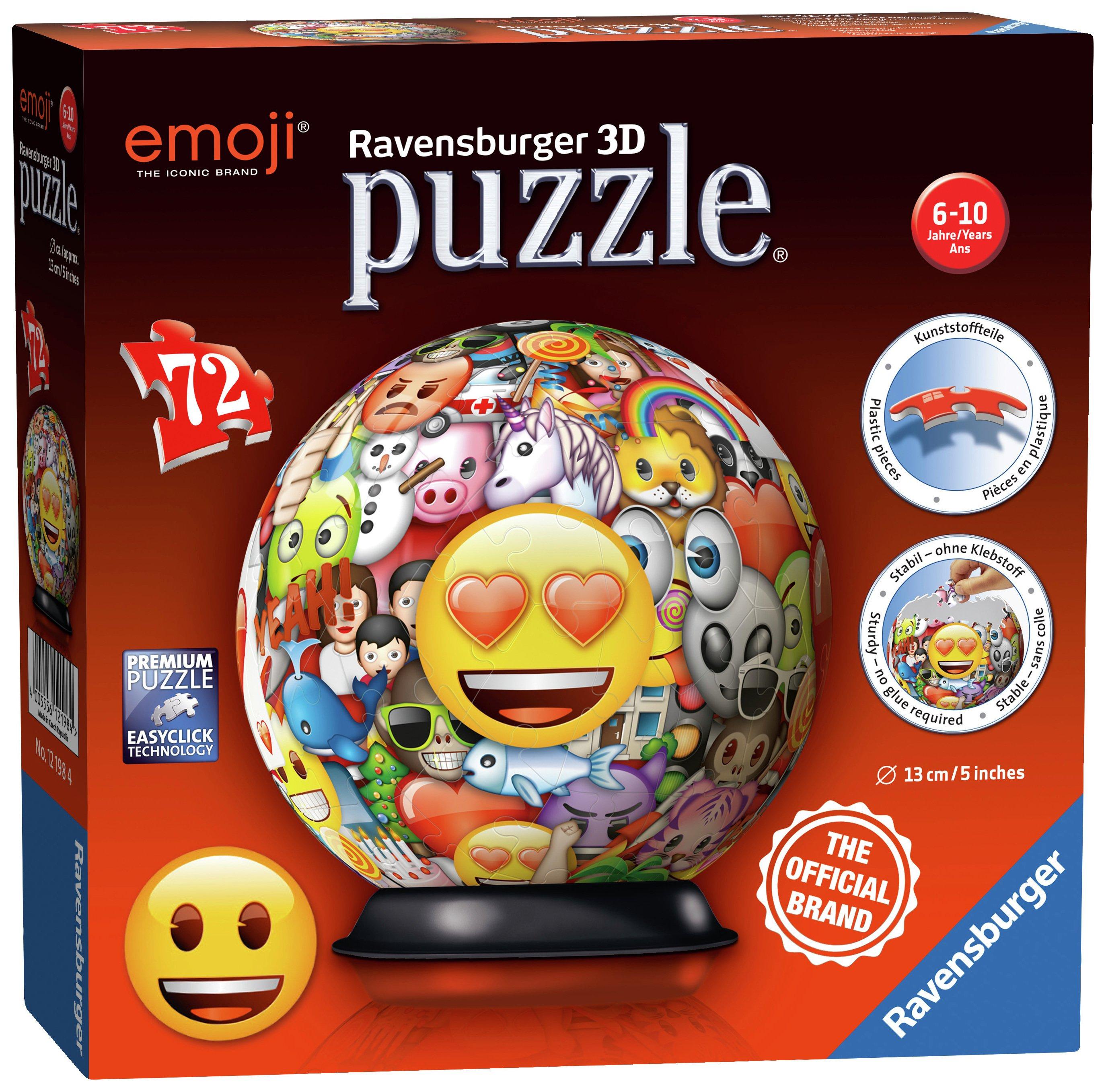 Image of Emoji 3D Puzzle 72 Pieces.