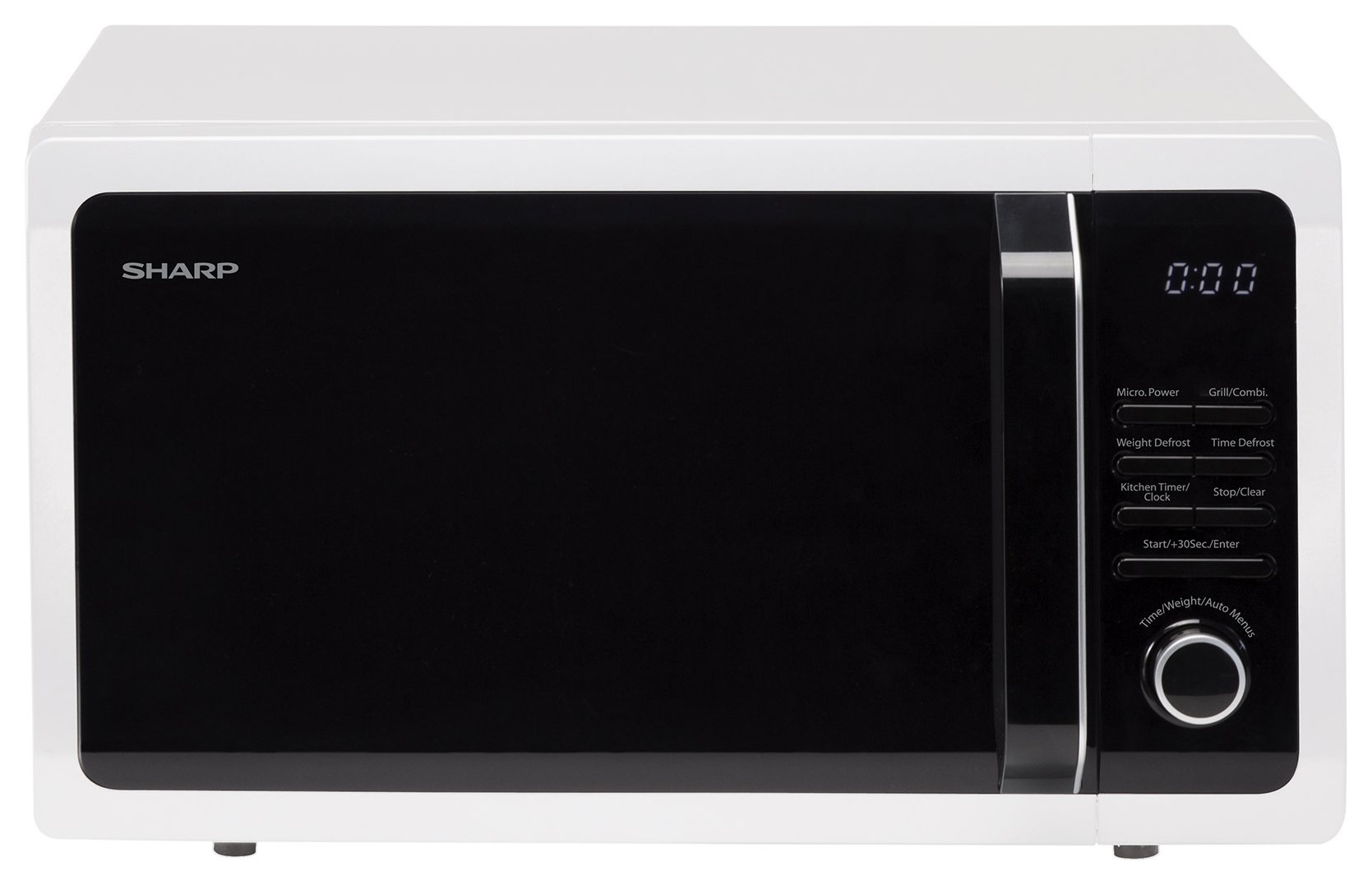 Sharp - R764WM 900W Microwave with Grill - White