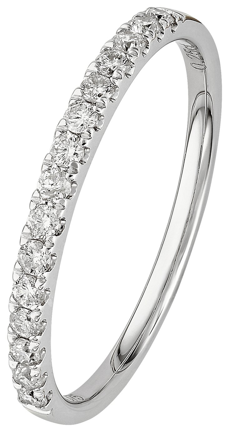 Buy Revere 9ct White Gold 0 25ct tw Claw Set Eternity Ring at