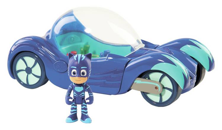 PJ Masks Deluxe Vehicle & Cat Boy 7.5cm Figure