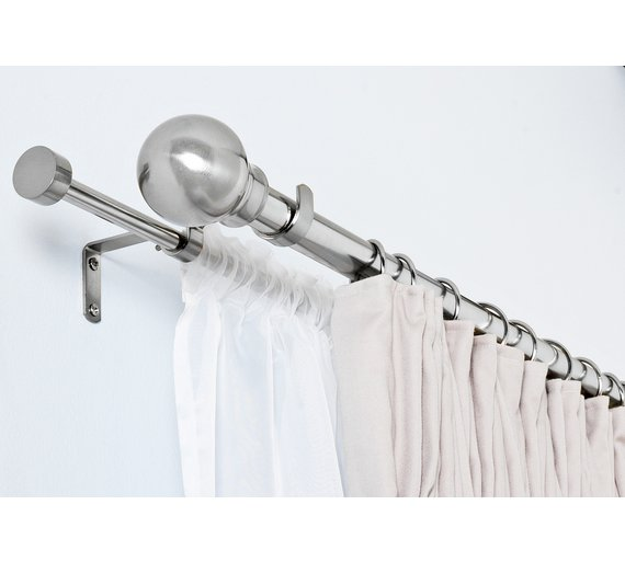Argos Home Extendable Double Curtain Voile Pole