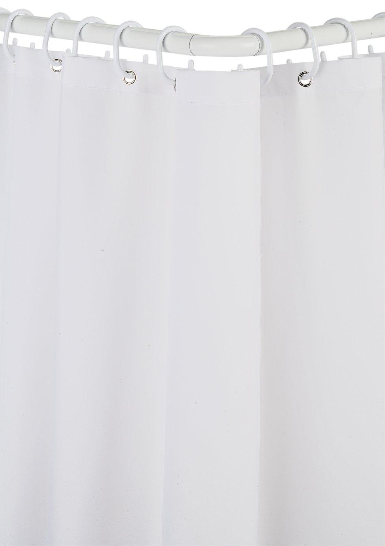 'Croydex - Modular Aluminium Shower Curtain & Rail Set - White