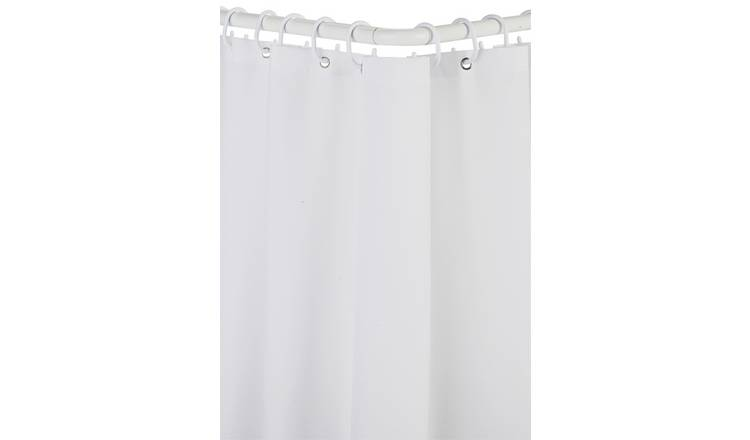 Croydex Modular Aluminium Shower Curtain & Rail Set - White