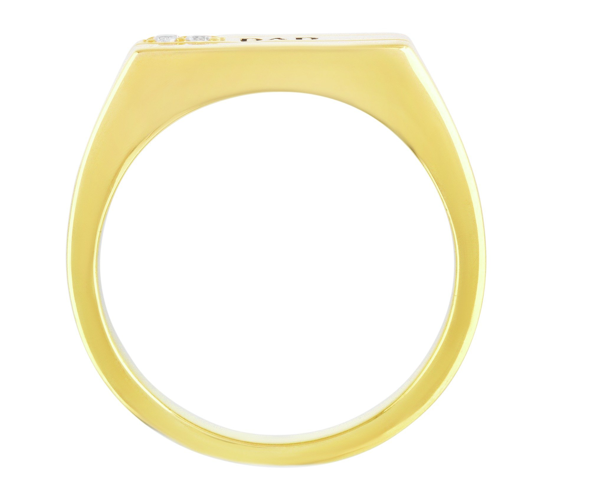 Buy Moon & Back 9ct Gold Plated Silver Cubic Zirconia Dad Ring