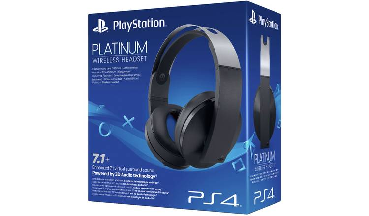 Buy Sony Wireless PS4 Headset - Platinum | Gaming headsets | Argos
