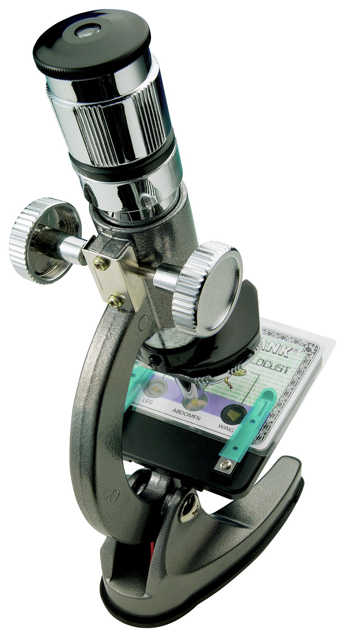 Image of EduScience 100x to 900x Zoom Diecast Microscope Set.