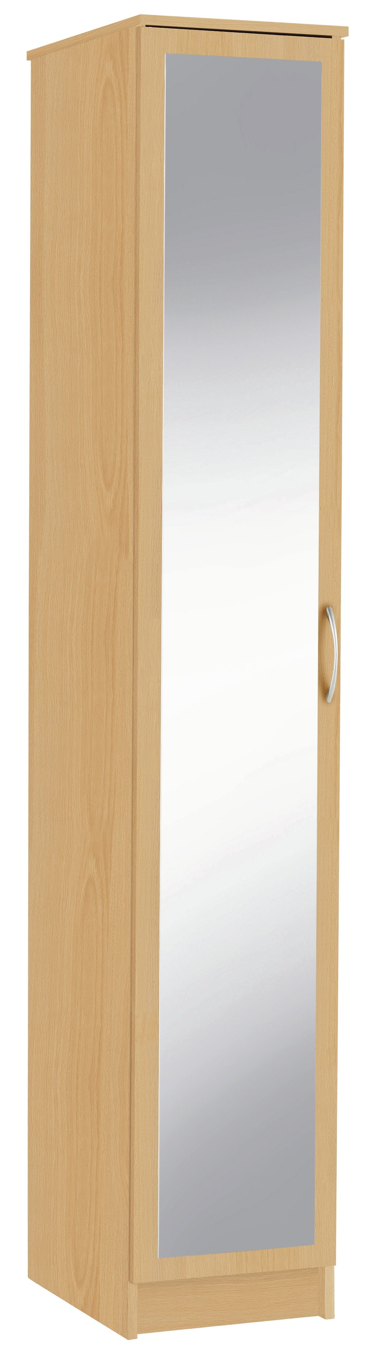 Argos Home Cheval Single Mirrored Wardrobe