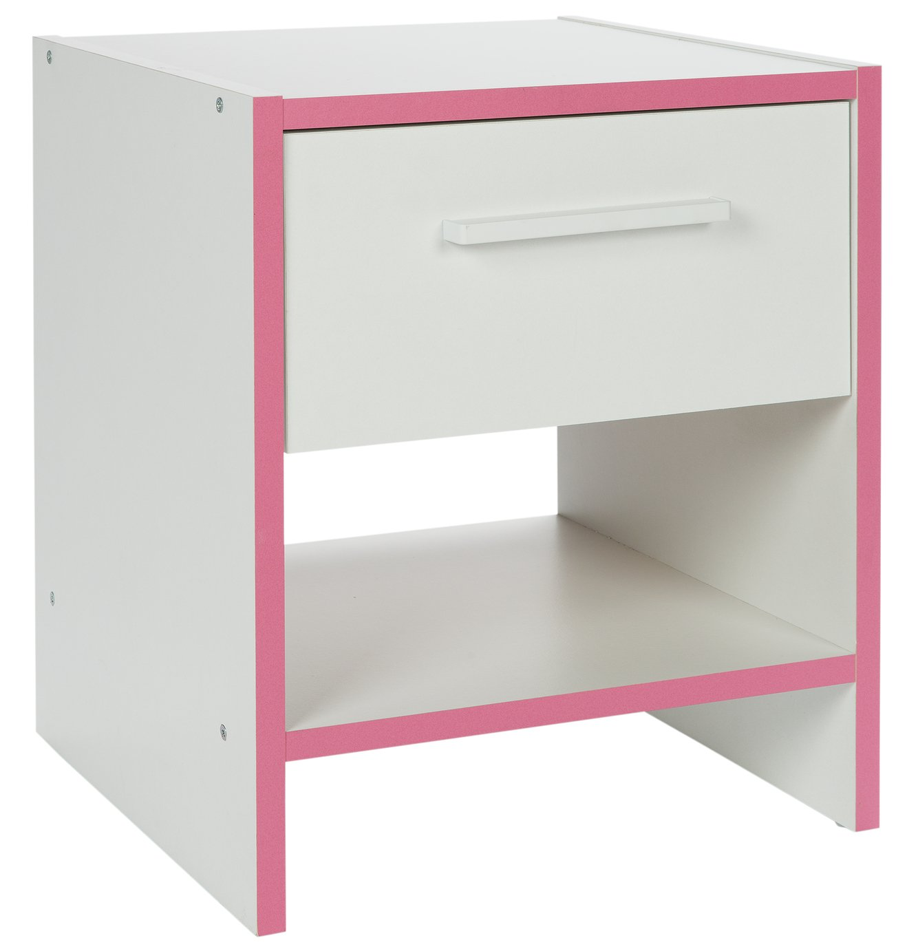 HOME Newport Bedside Chest - Pink