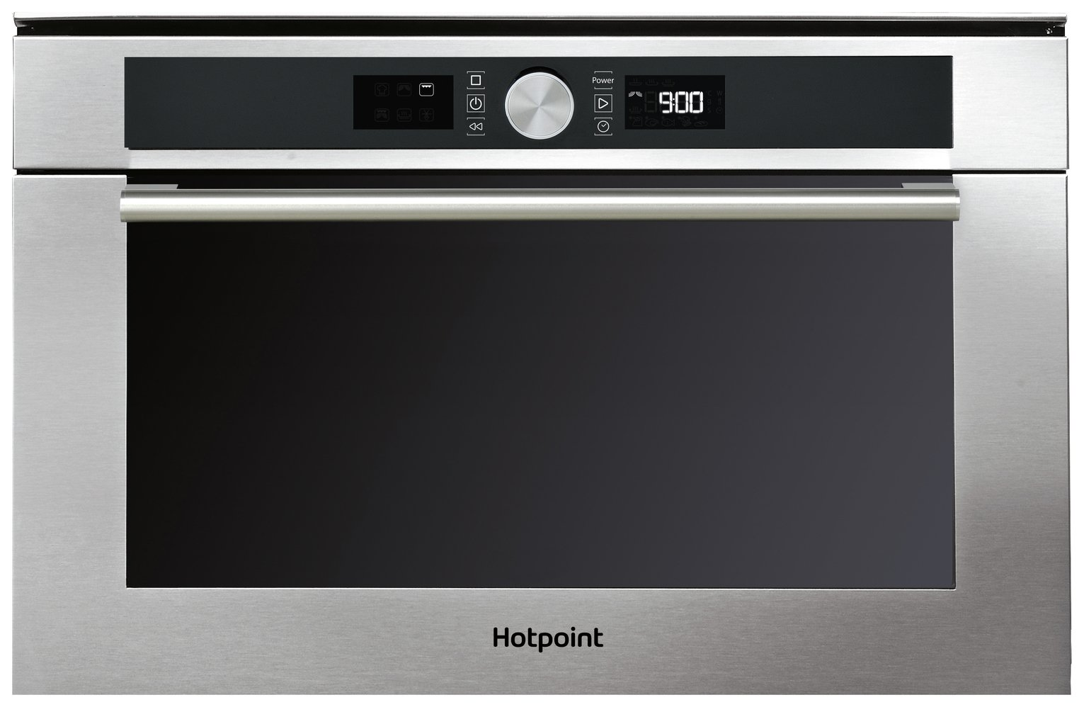 Hotpoint MD454IXH 1000W Built In Microwave - Stainless Steel