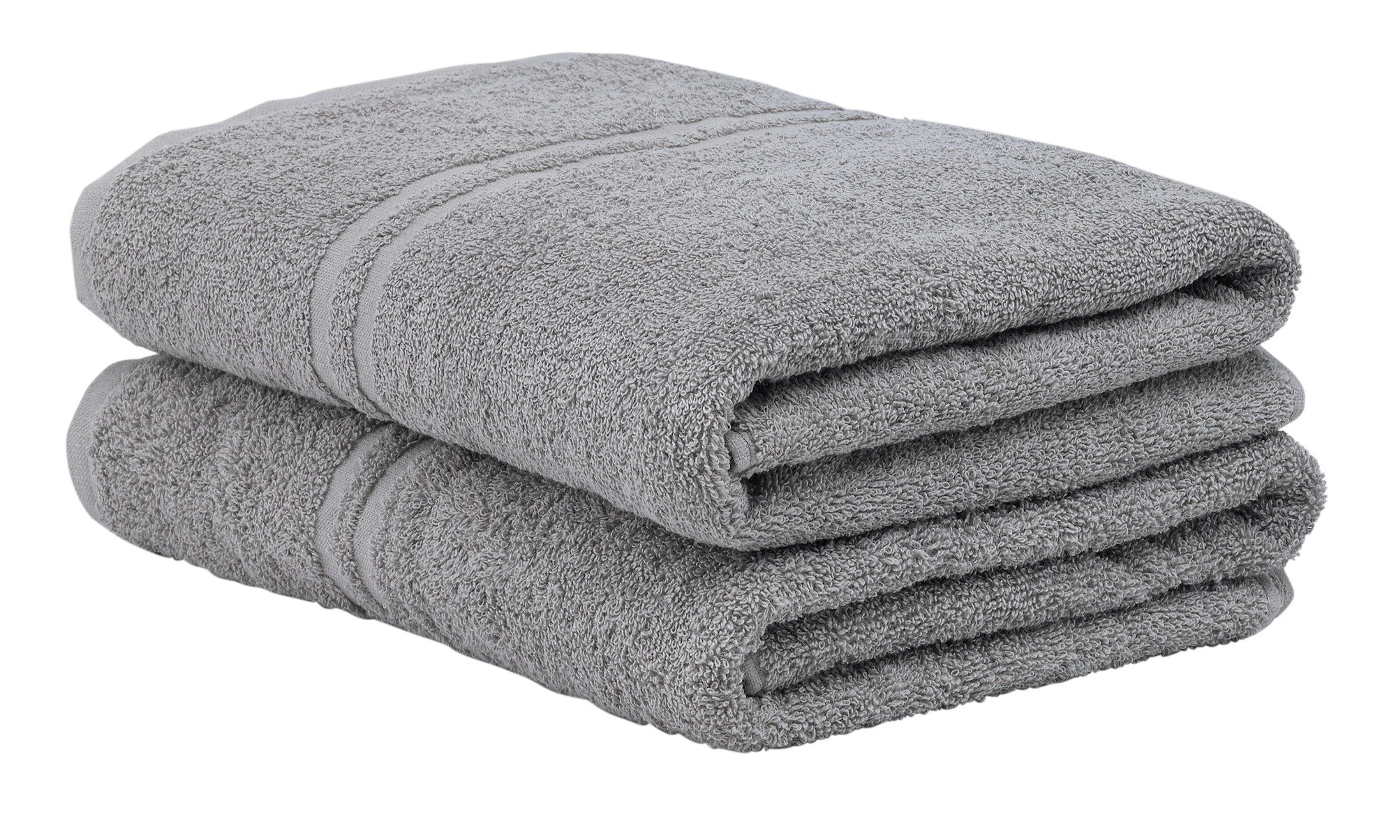 Image of ColourMatch - Pair of Bath - Towels - Flint Grey
