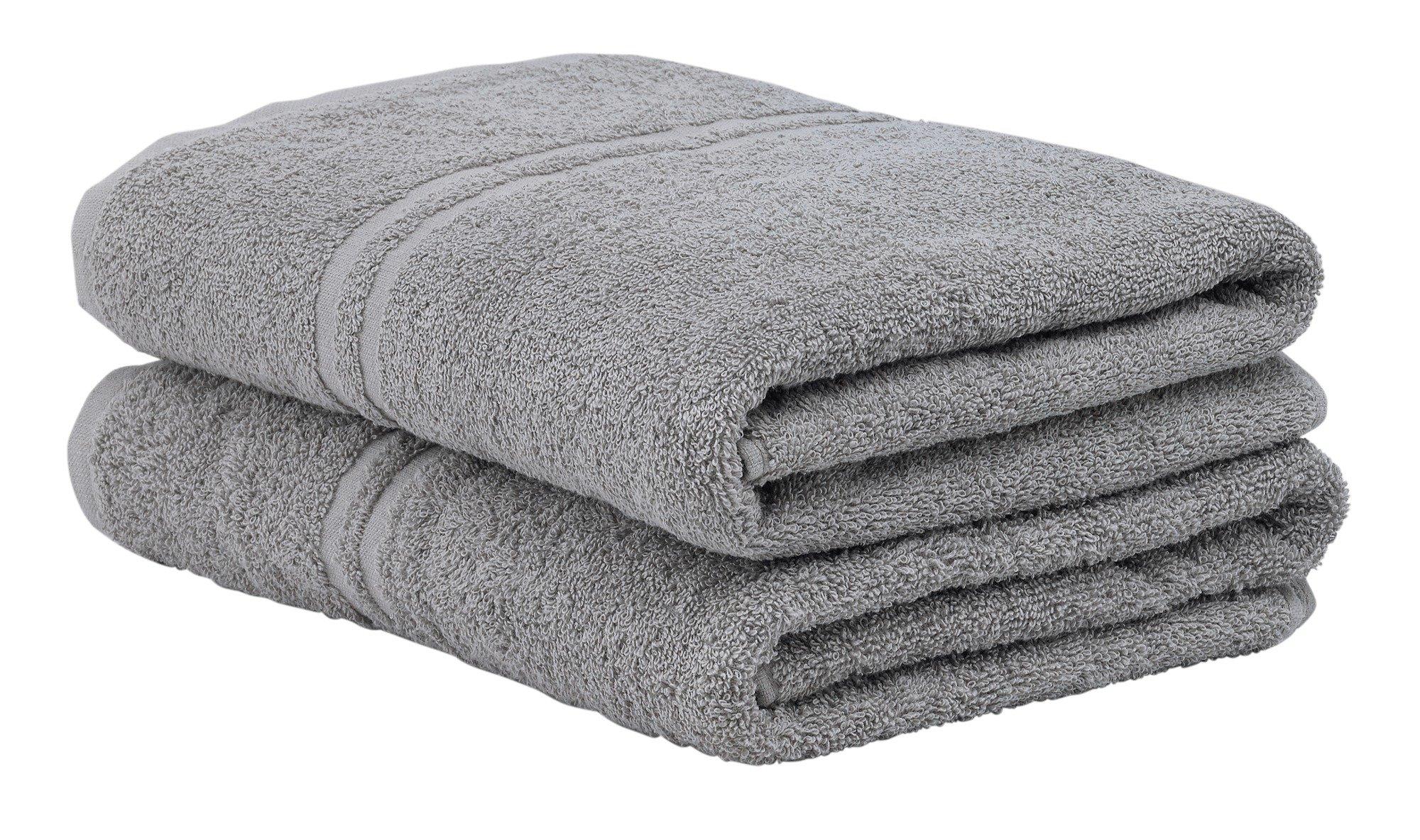 Buy Argos Home Pair Of Bath Towels Flint Grey Towels Argos