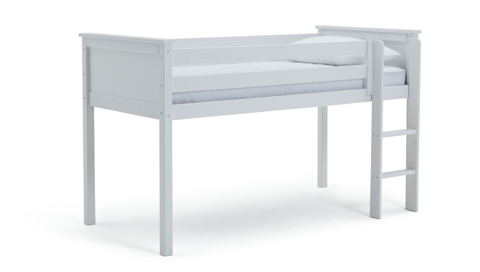 Argos Home Brooklyn White Mid Sleeper & Kids Mattress