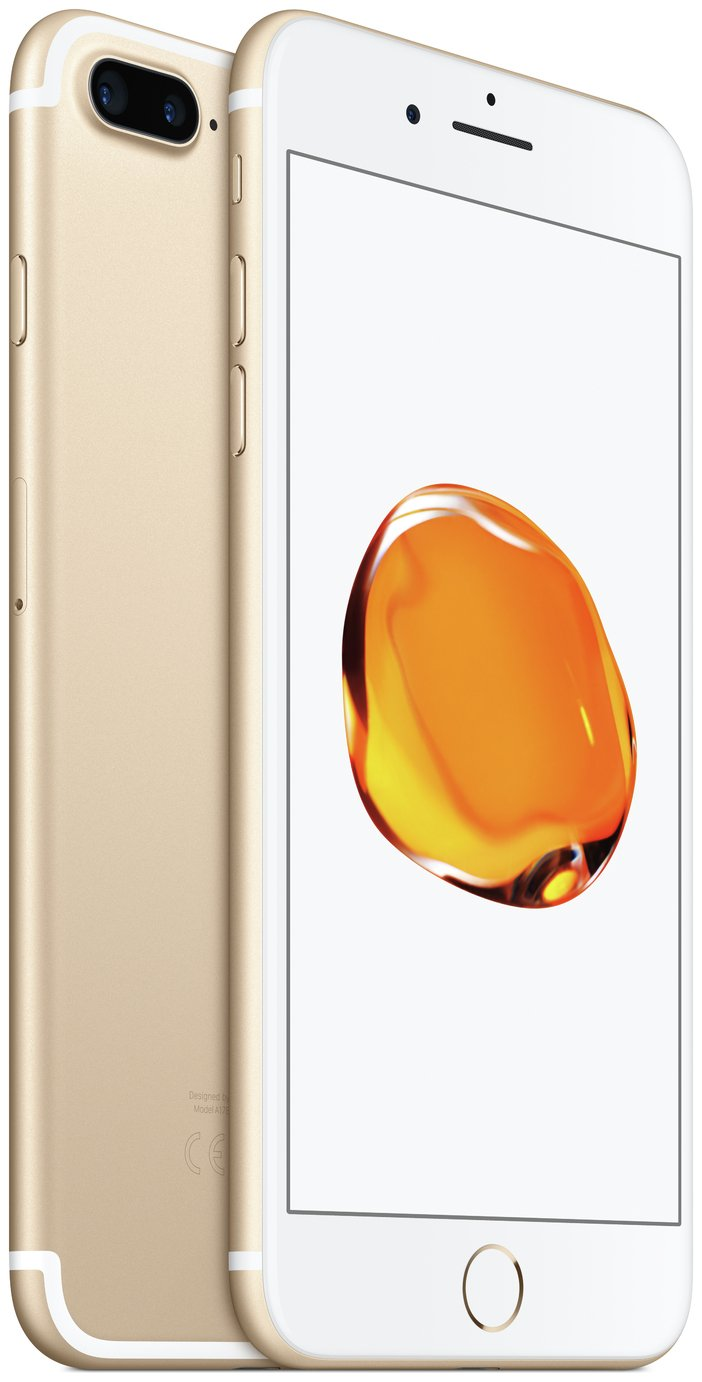 SIM Free iPhone 7 Plus 128GB Mobile Phone - Gold