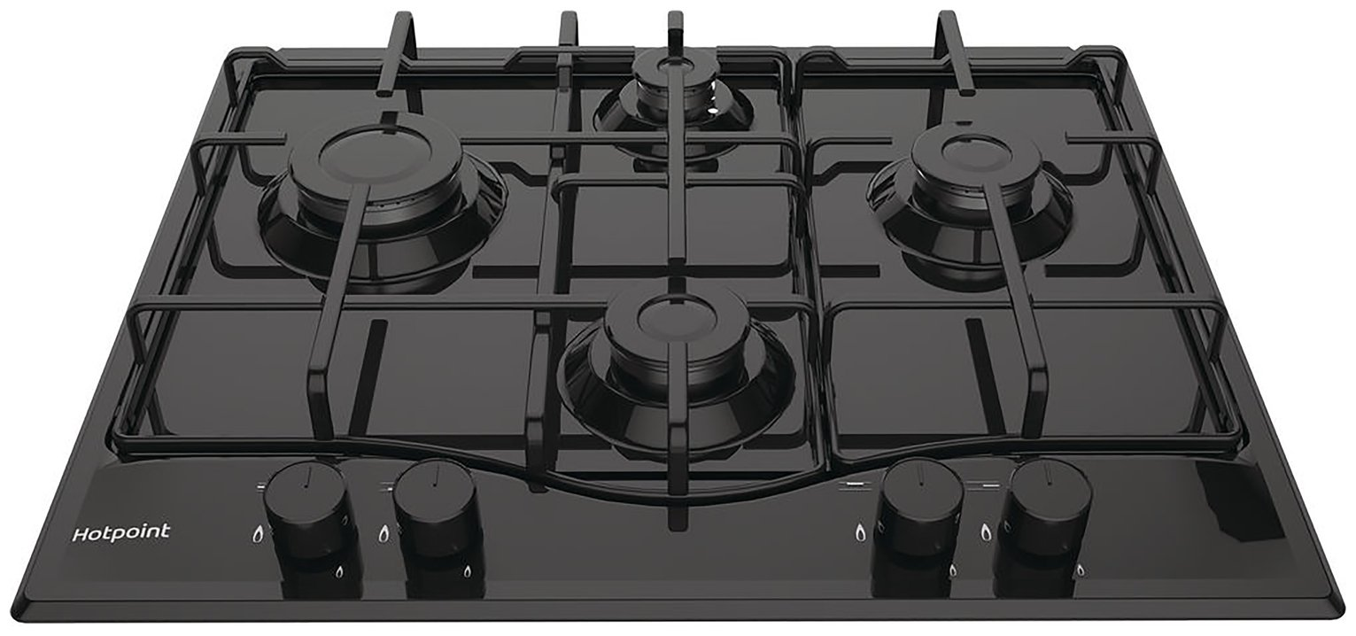 Hotpoint - PCN642HBK - Gas Hob - Black