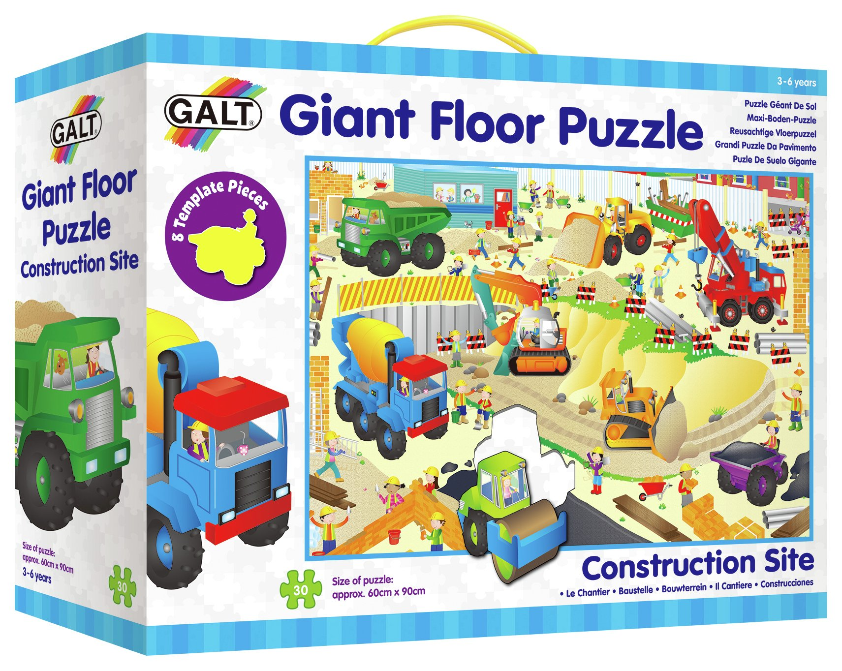 Image of Construction Site Giant Floor Puzzle.