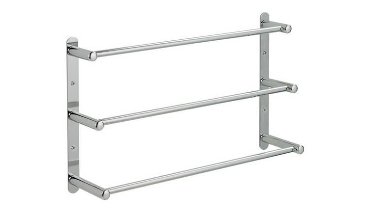 Argos Home 3 Tier Wall Mounted Steel Towel Rack