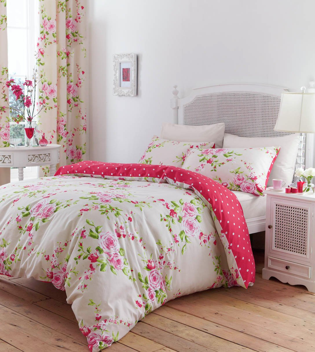 catherine lansfield canterbury red bedding set  single