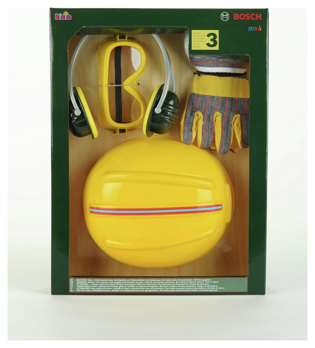 Image of Bosch Accessories Set 4 PCS With Helmet.