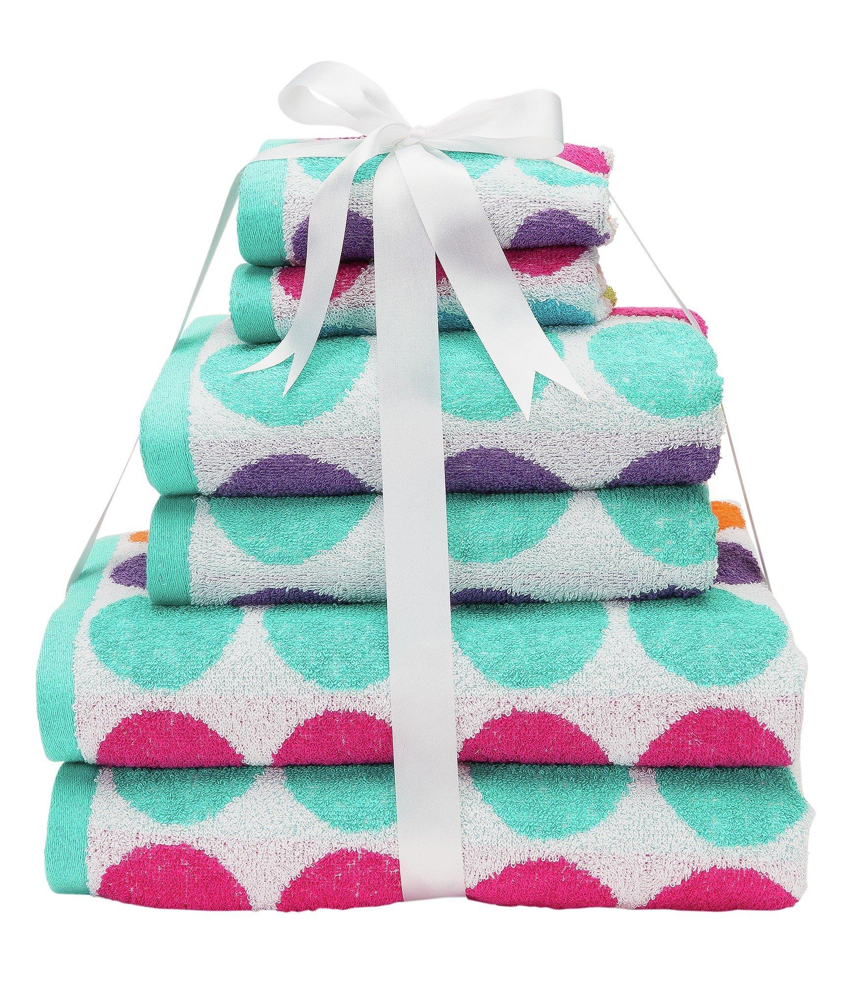 Argos Home 6 Piece Towel Bale - Spots