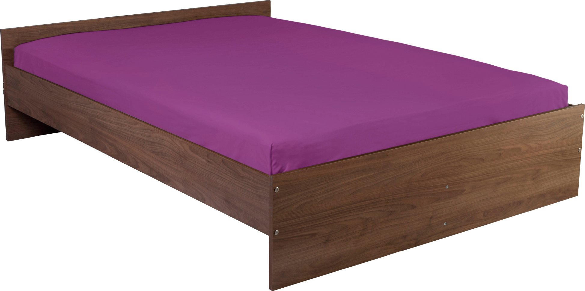 colourmatch grape fitted sheet  single