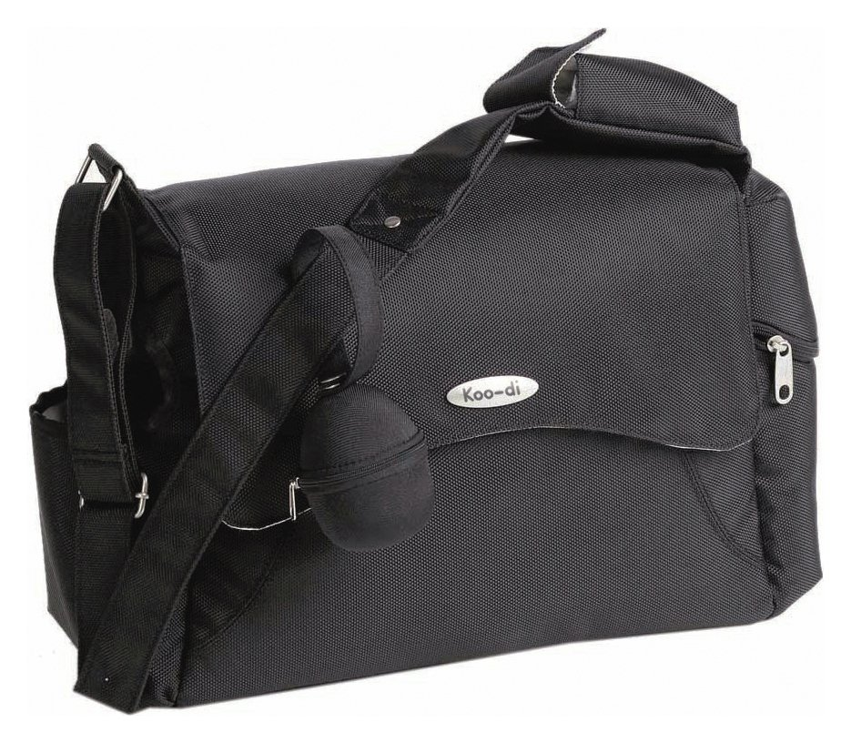Koo-di Messenger Baby Changing Bag - Black.