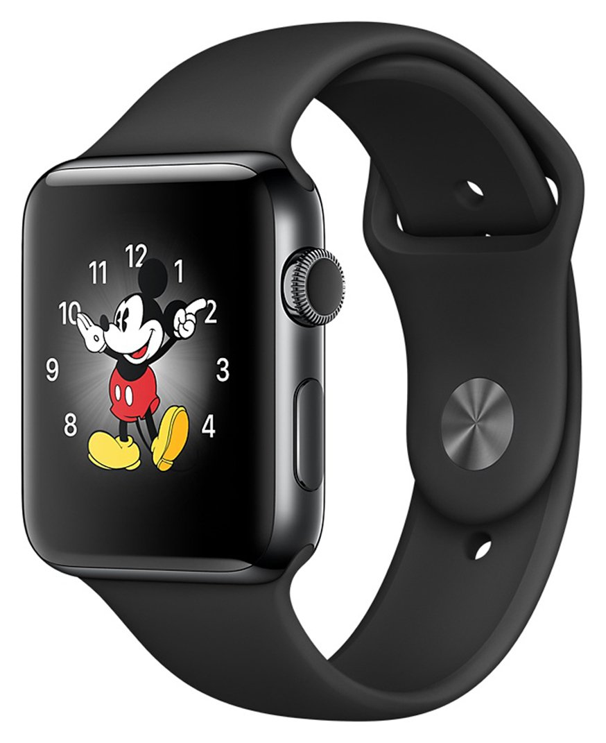 Apple Watch S2 42mm Space Black SSteel wSpace Black Band. cheapest retail price