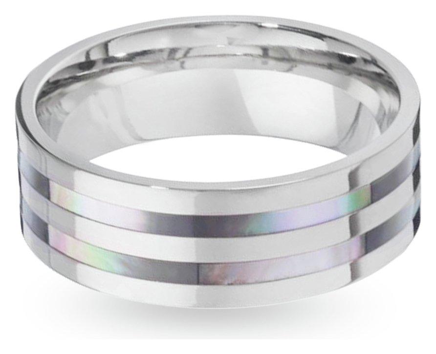 Buy Revere Men s Titanium Mother of Pearl Ring at Argos
