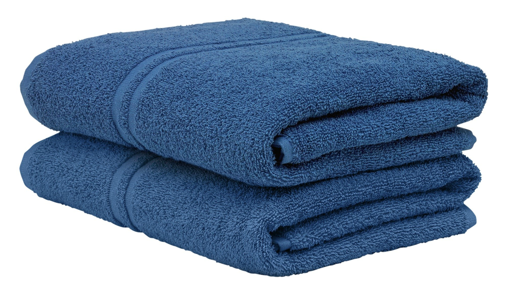 Image of ColourMatch - Pair of Bath - Towels - Ink Blue