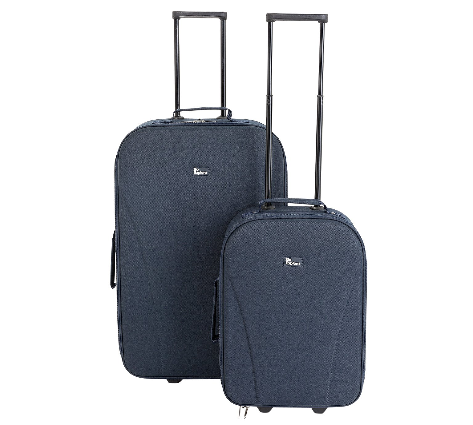 Go Explore 2 Piece Soft 2 Wheeled Luggage Set - Blue