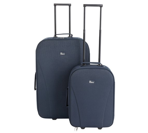 Buy Go Explore 2 piece Soft Luggage Set - Blue at Argos.co.uk ...