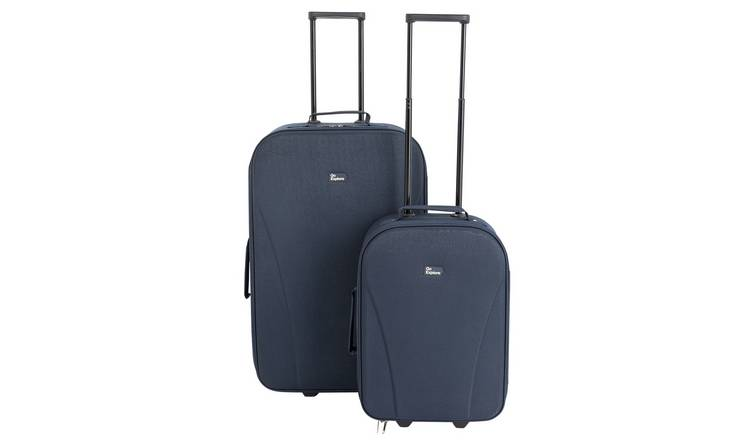 d64586f8d0cf Buy Go Explore 2 Piece Soft 2 Wheeled Luggage Set - Blue | Luggage sets |  Argos