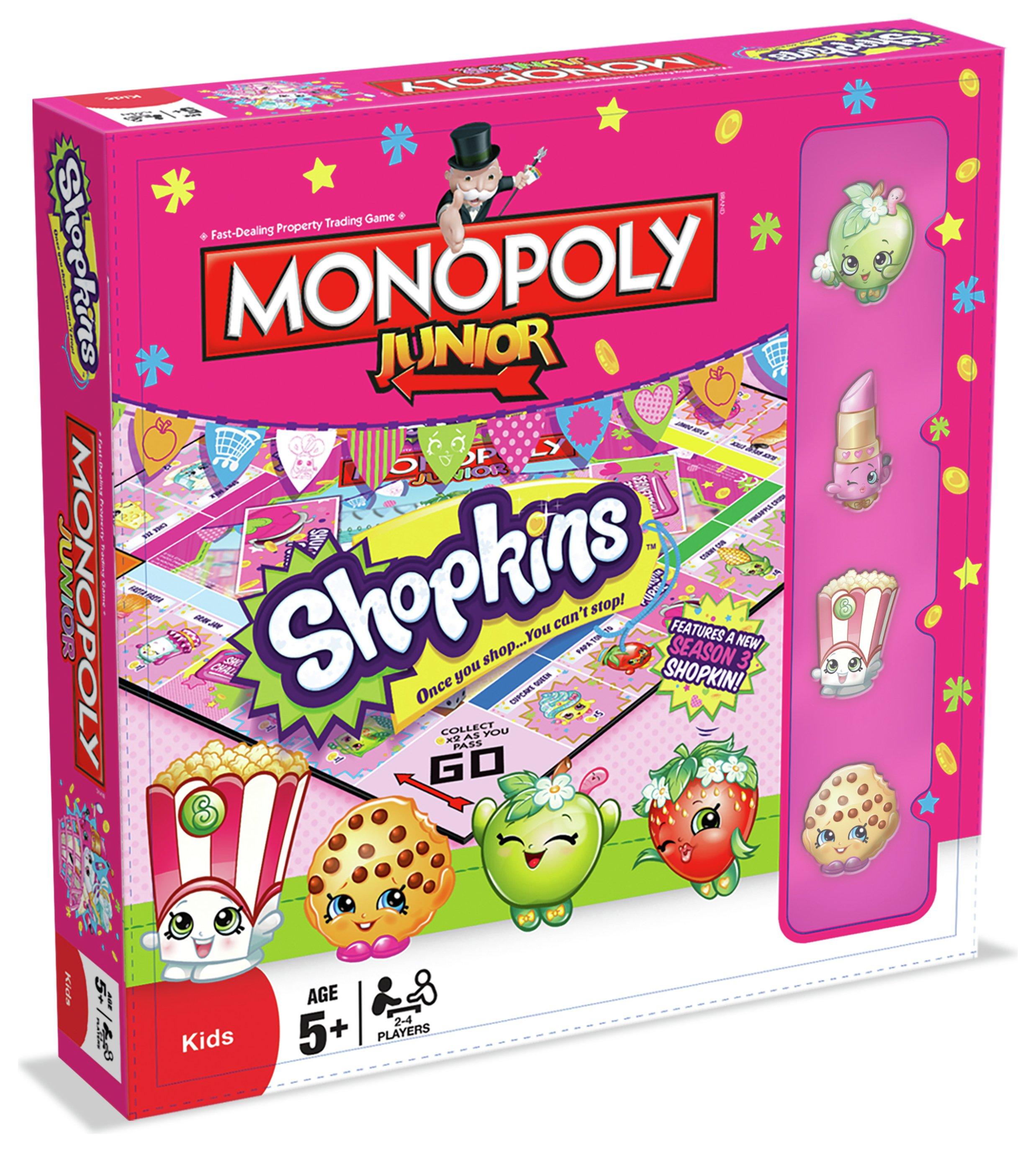 Shopkins Monopoly Junior Board Game.
