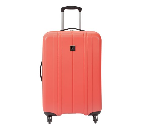 Buy Revelation Santorini Hard 4 Wheel Medium Suitcase - Coral at ...