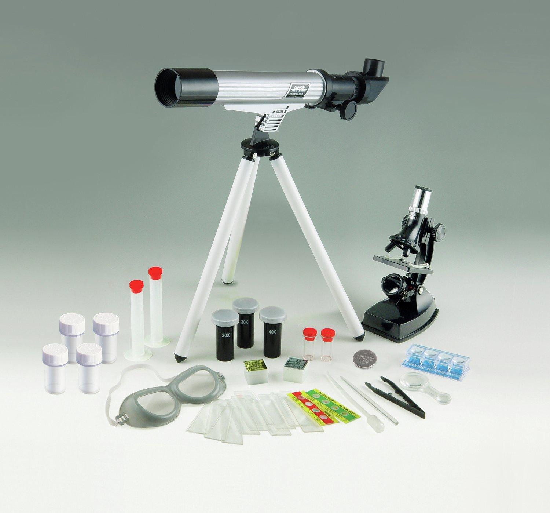 163 31 Argos 300mm Telescope And Microscope Science Kit