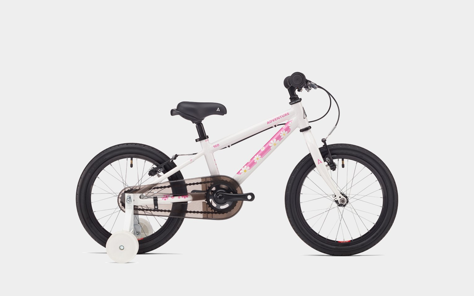 Image of Adventure 160 Girl's Mountain Bike 16 Inch - Pink/White