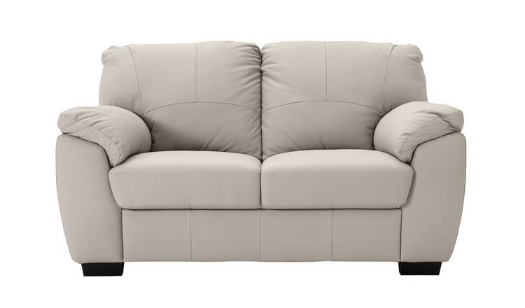 Remarkable Buy Argos Home Milano 2 Seater Leather Sofa Light Grey Sofas Argos Bralicious Painted Fabric Chair Ideas Braliciousco