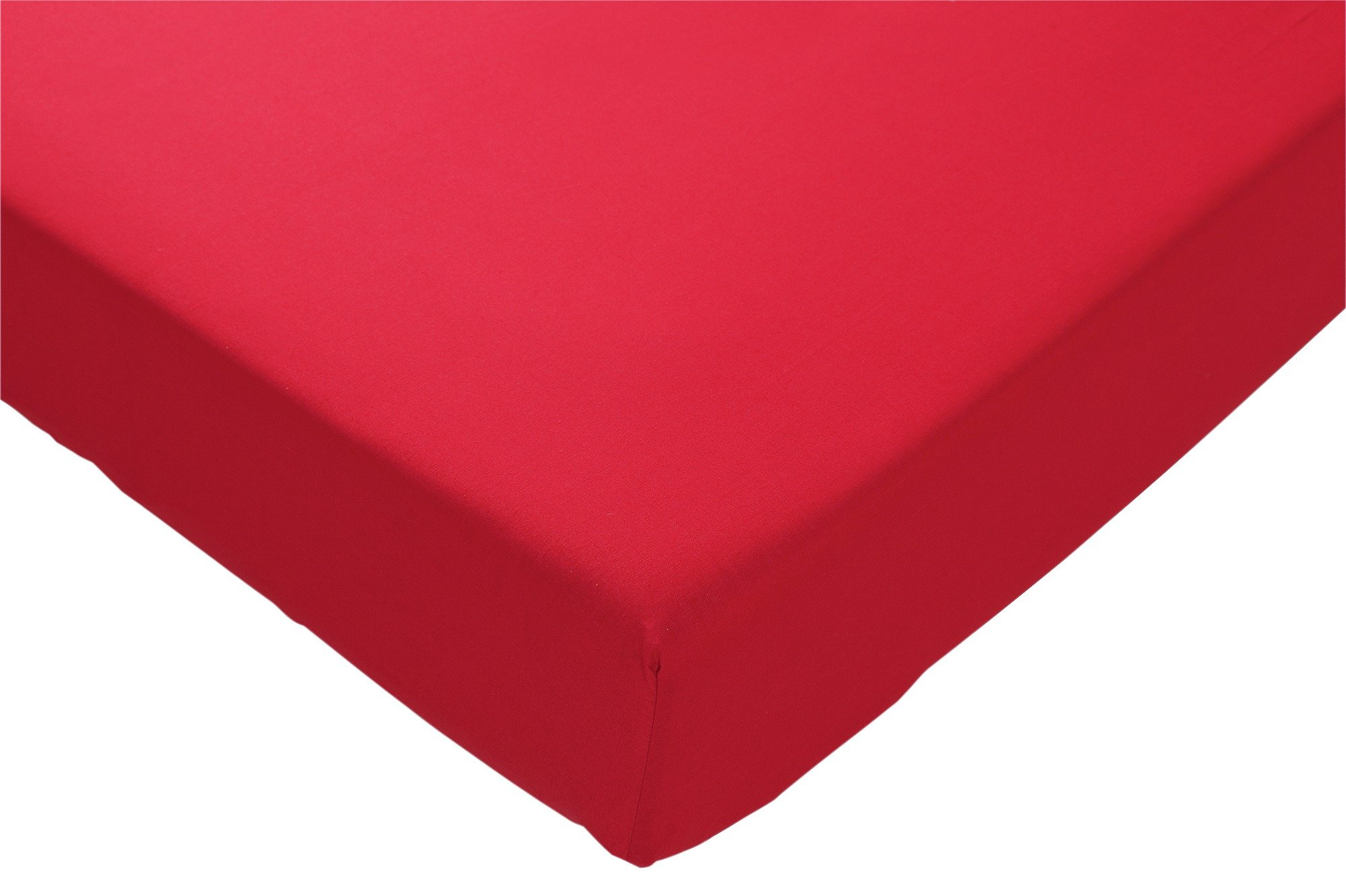 ColourMatch Poppy Red Fitted Sheet - Double