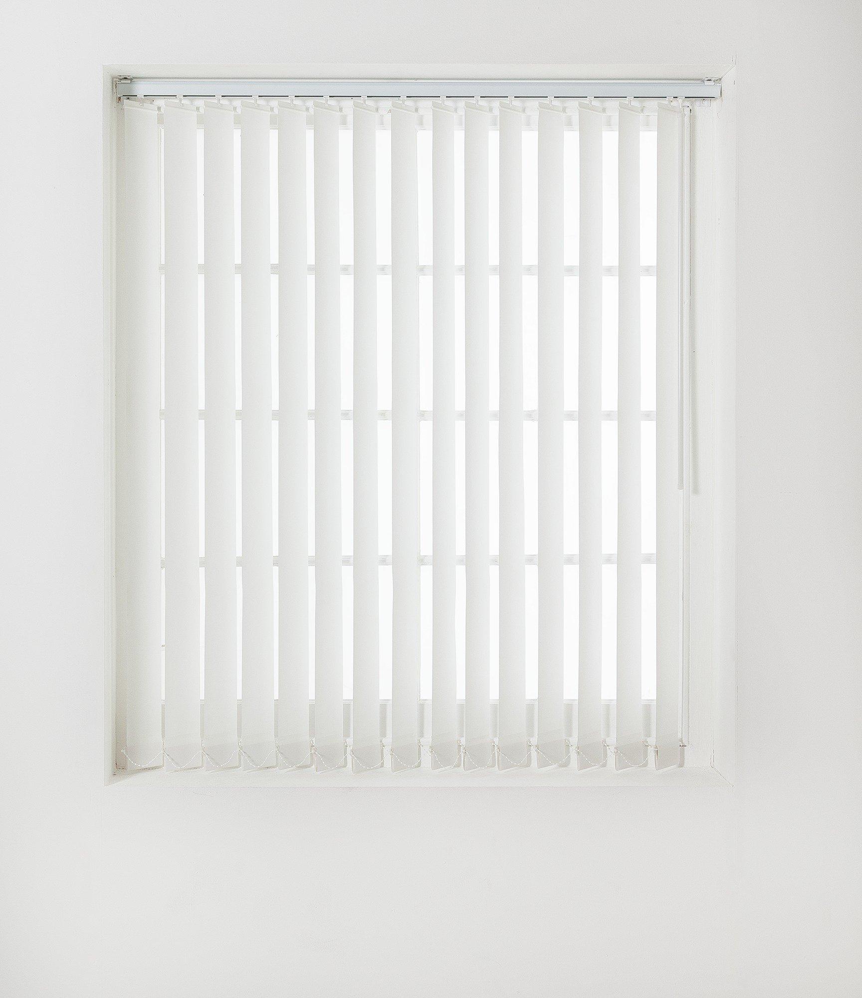 Argos Home Vertical Blinds Slat Pack 244x229cm White Dim