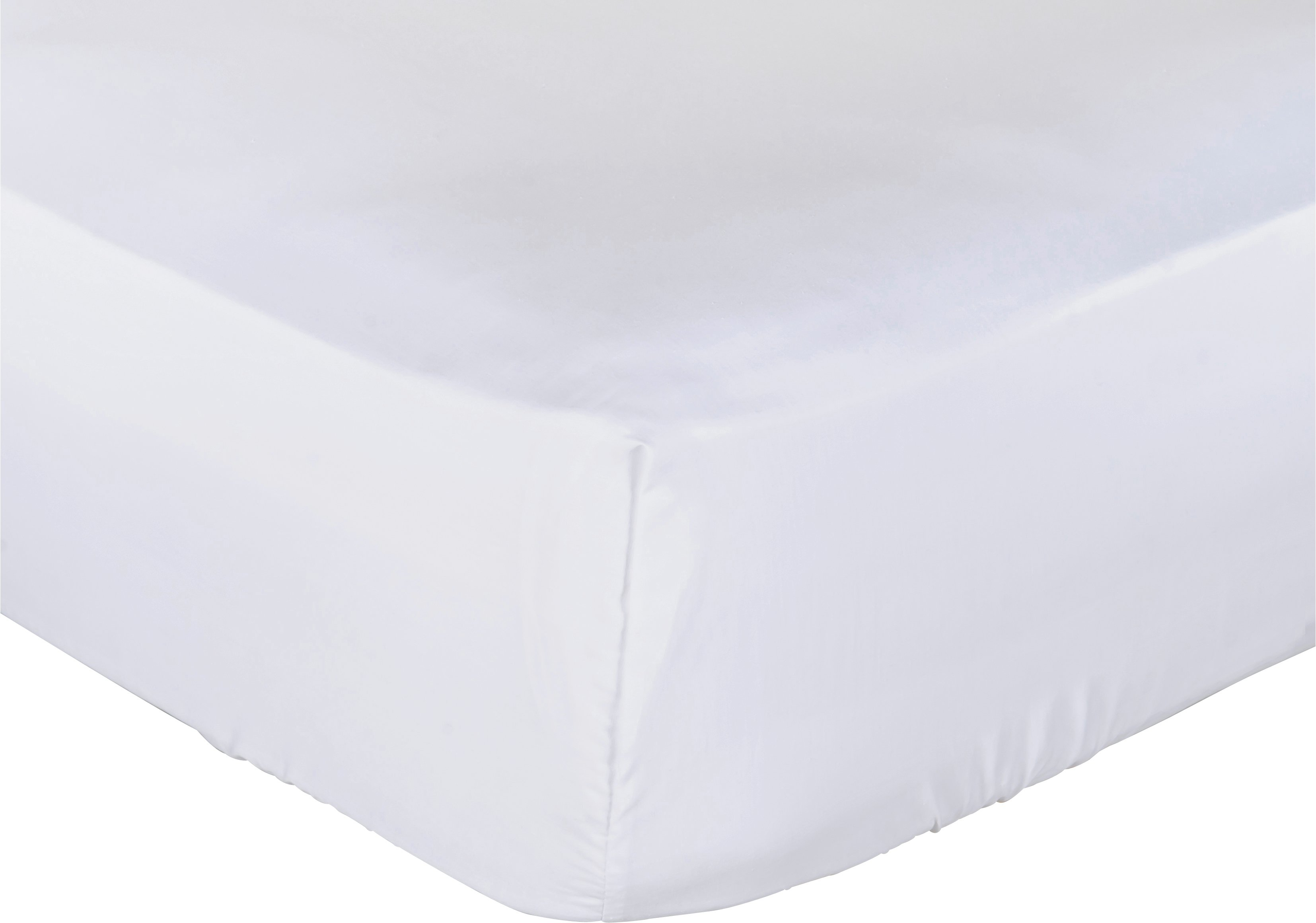 collection white non iron fitted sheet  single