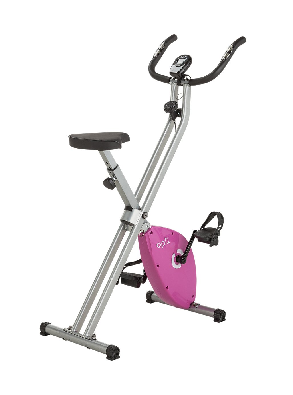 Opti Folding Magnetic Exercise Bike - Pink