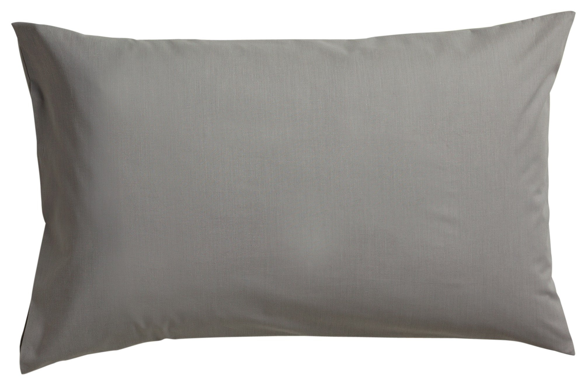 HOME Pair of Housewife Pillowcases - Grey