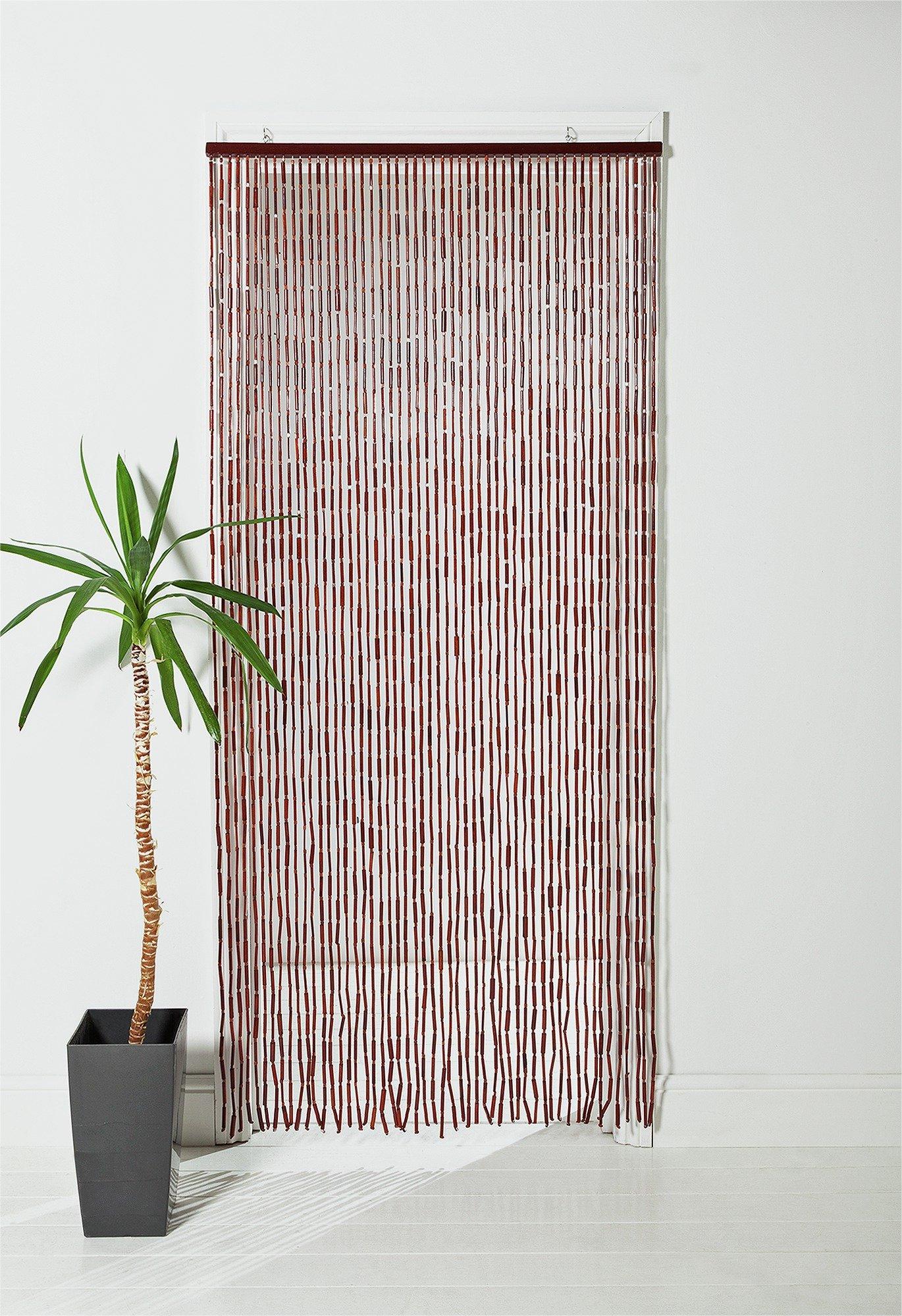 home beaded door curtain walnut. Black Bedroom Furniture Sets. Home Design Ideas
