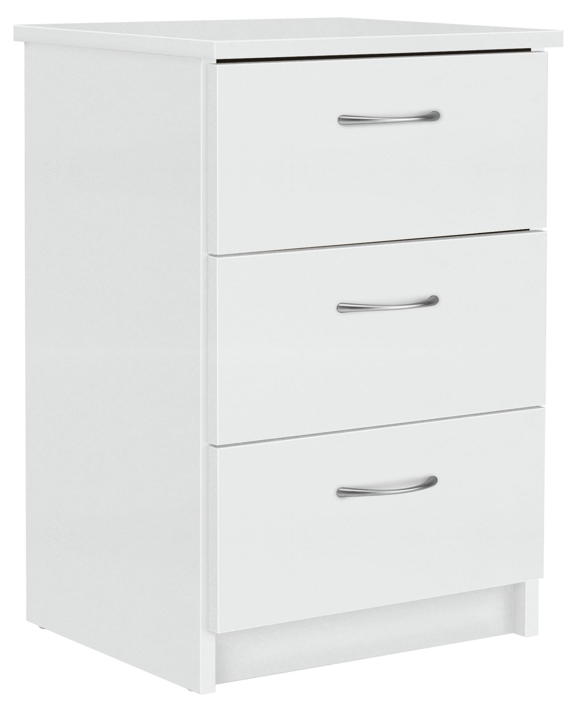 Argos Home Cheval 3 Drawer Bedside Table - White