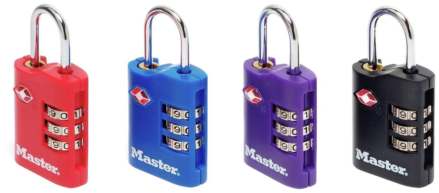 Master Lock TSA 3 Digit Combi Locks - Set of 2