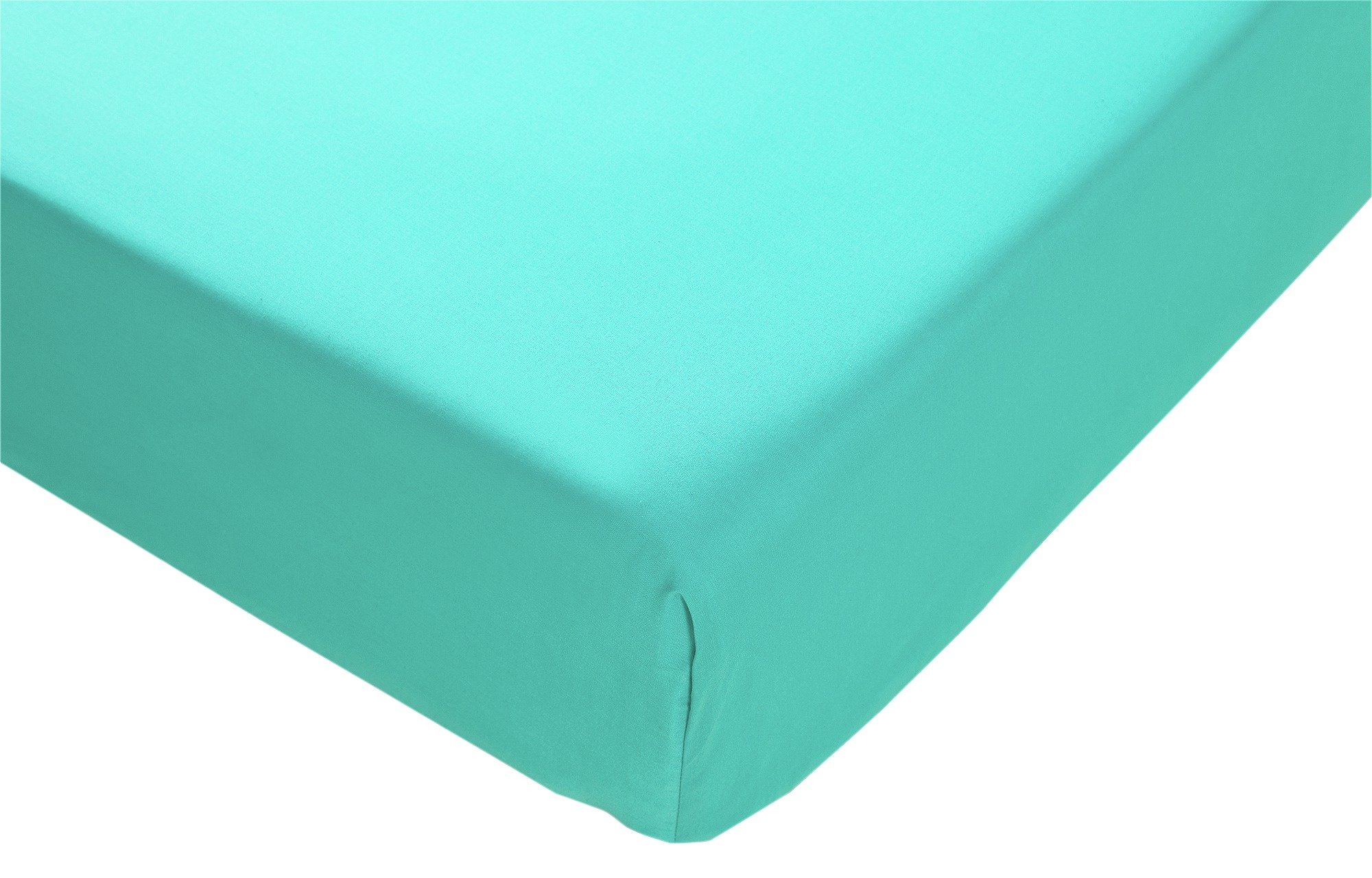 collection teal non iron fitted sheet  double