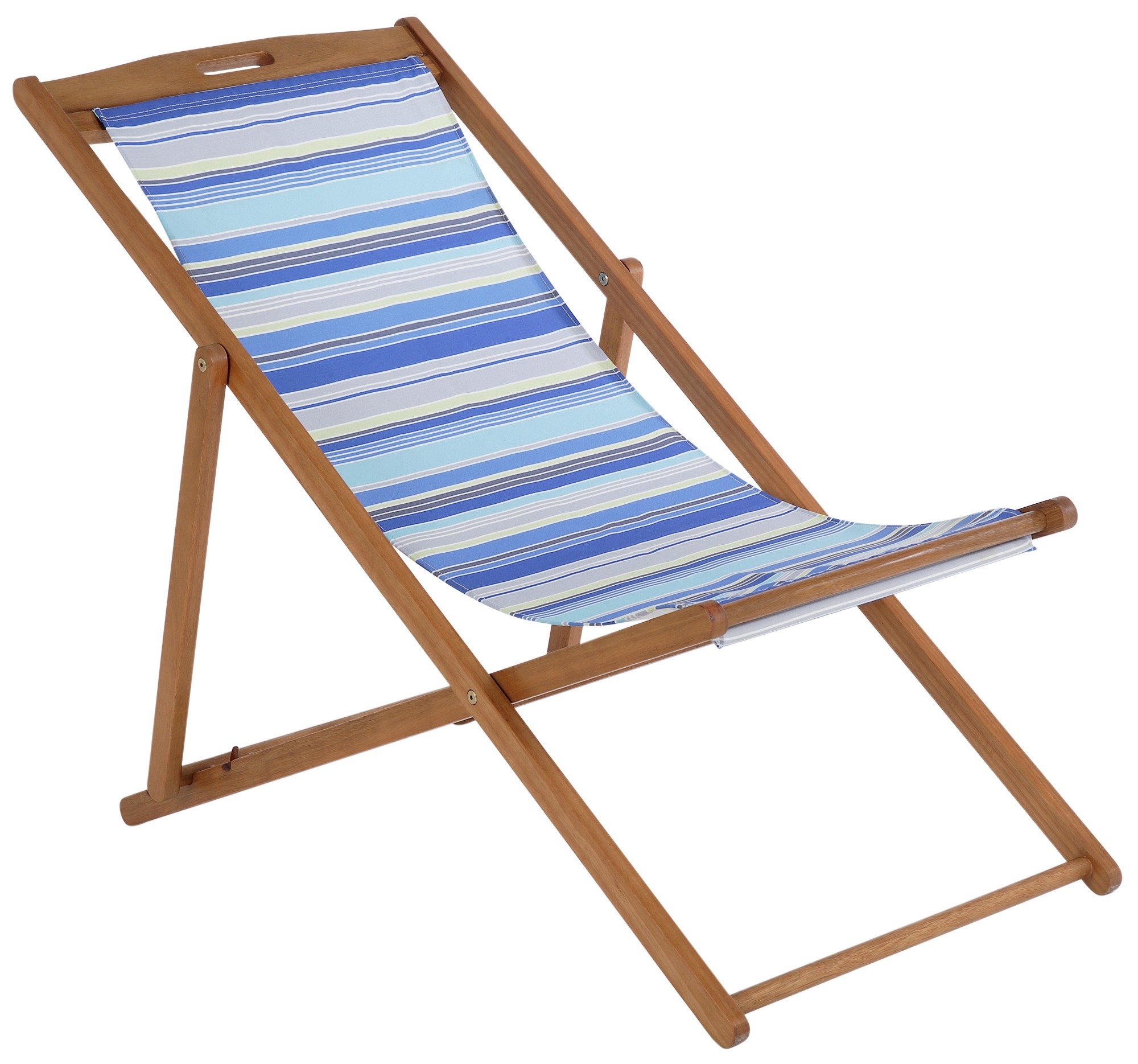 buy deck chair - blue striped at argos.co.uk - your online shop