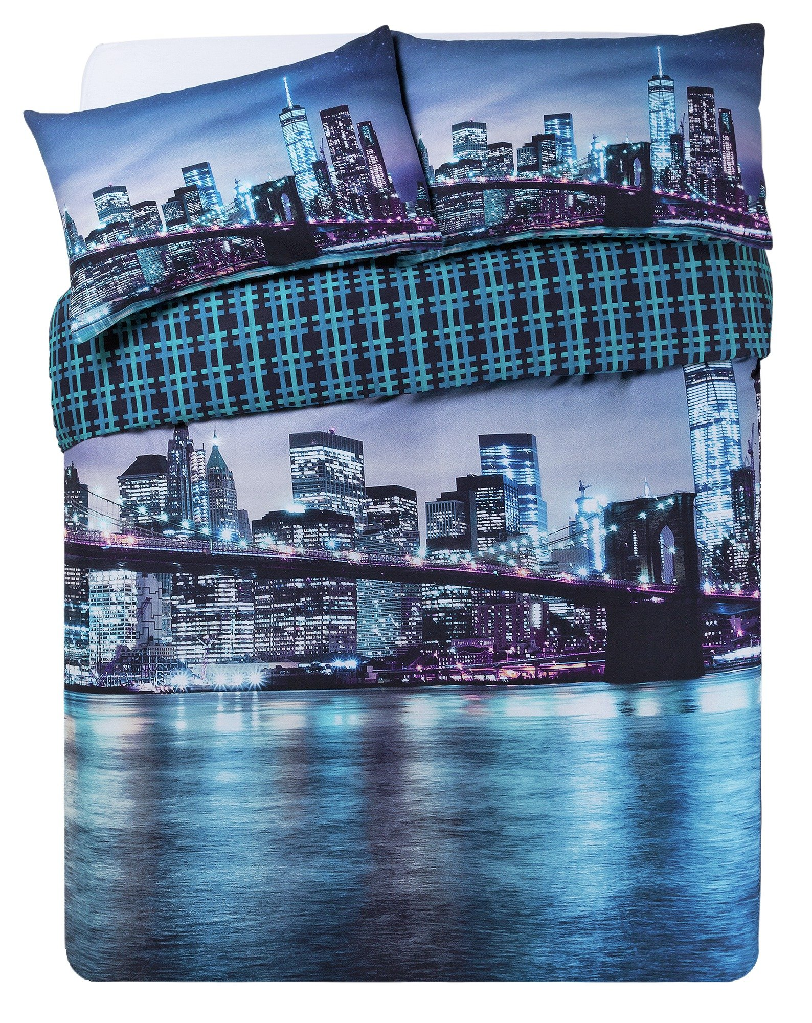 Collection New York Digital Print Bedding Set - Kingsize