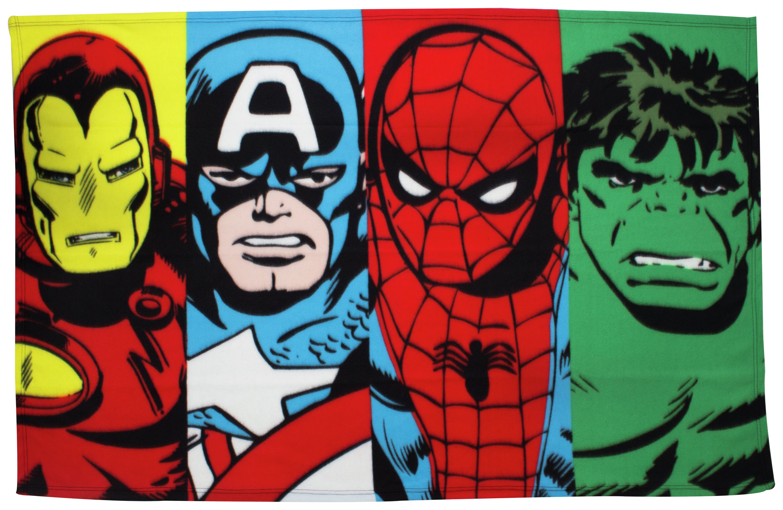disney marvel comics panel fleece